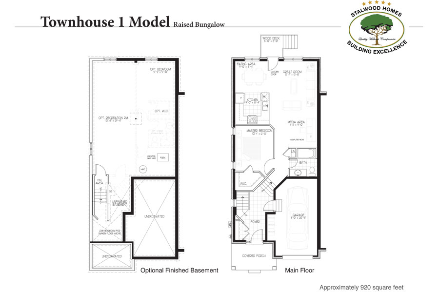 Townhouse 1 floorplan raised bungalow