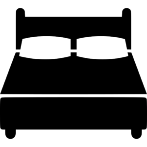 Square thumb bed icon